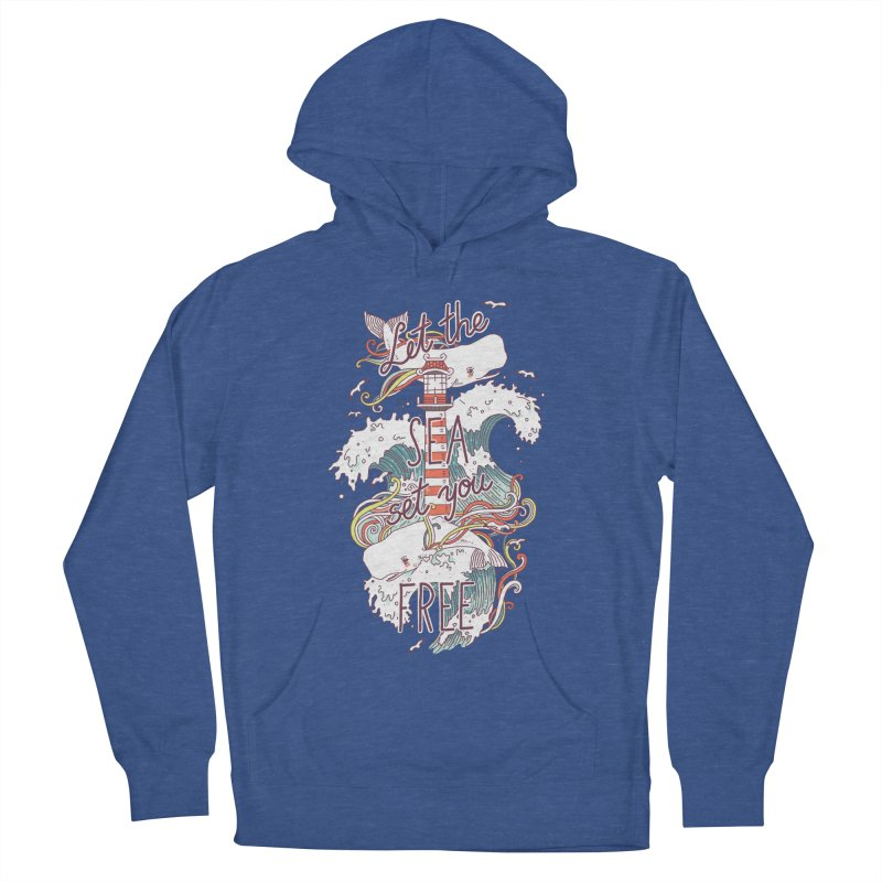Whales and Waves Women's Pullover Hoody by Freeminds's Artist Shop