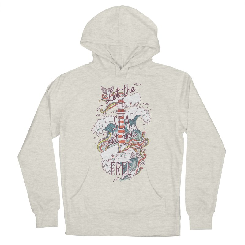 Whales and Waves Men's Pullover Hoody by Freeminds