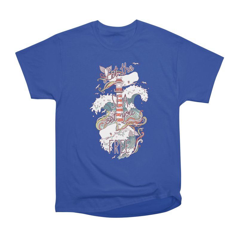 Whales and Waves Men's Classic T-Shirt by Freeminds