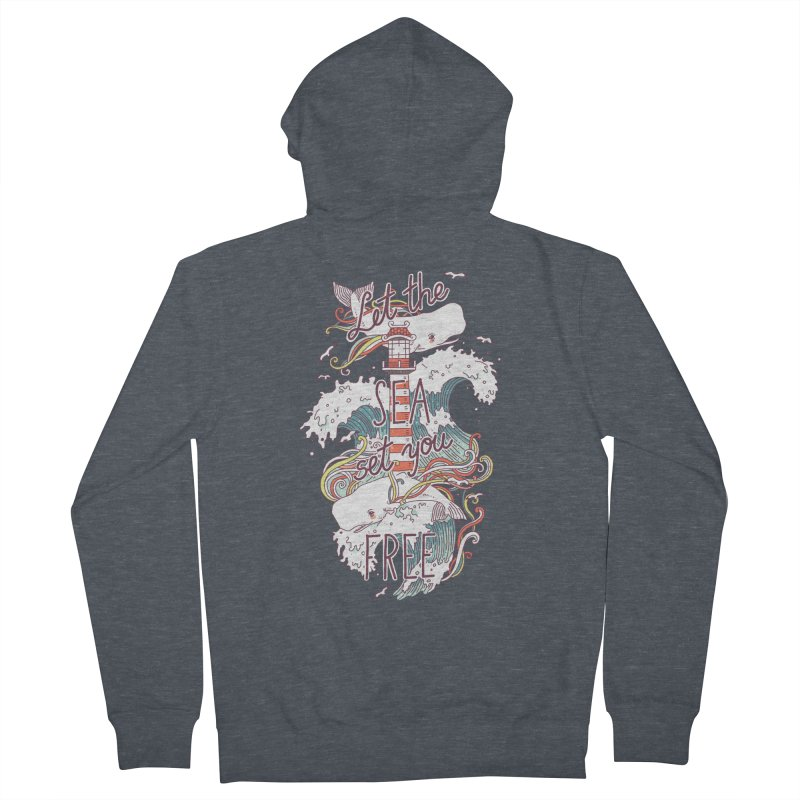 Whales and Waves Women's Zip-Up Hoody by Freeminds's Artist Shop