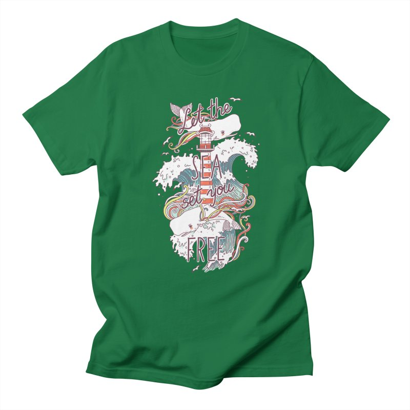 Whales and Waves Women's Unisex T-Shirt by Freeminds