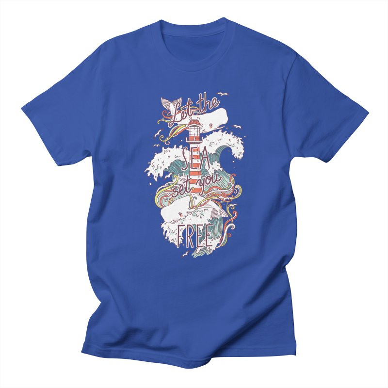 Whales and Waves Men's T-shirt by Freeminds