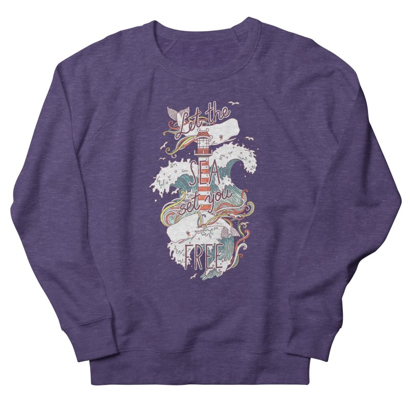 Whales and Waves Women's Sweatshirt by Freeminds