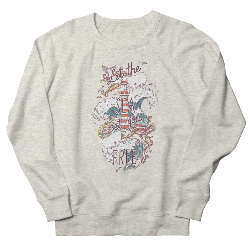 Whales and Waves Men's Sweatshirt by Freeminds