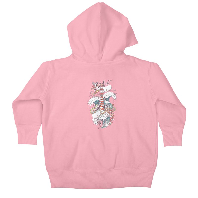 Whales and Waves Kids Baby Zip-Up Hoody by Freeminds