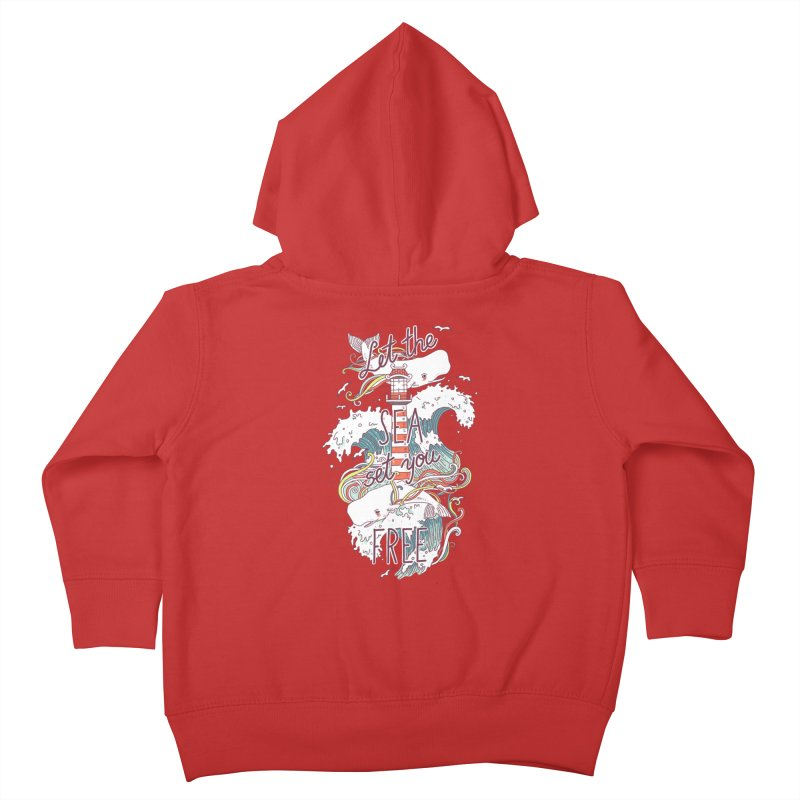 Whales and Waves Kids Toddler Zip-Up Hoody by Freeminds