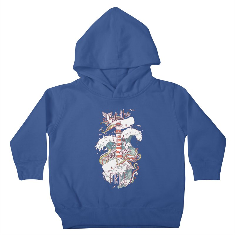 Whales and Waves Kids Toddler Pullover Hoody by Freeminds