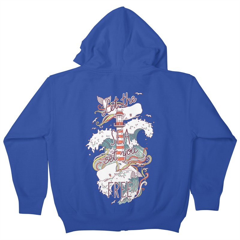 Whales and Waves Kids Zip-Up Hoody by Freeminds