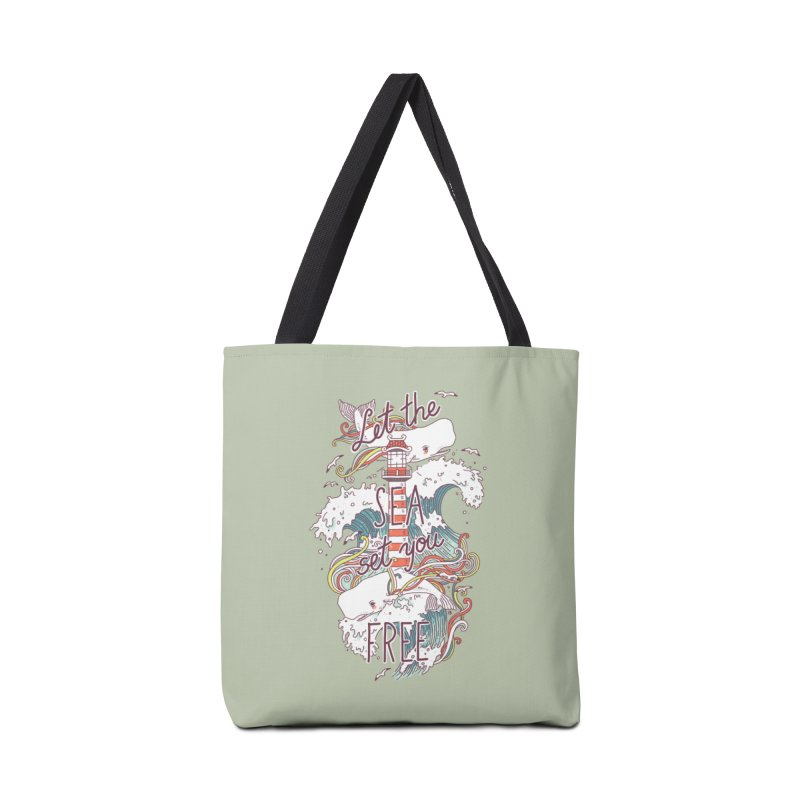Whales and Waves Accessories Bag by Freeminds