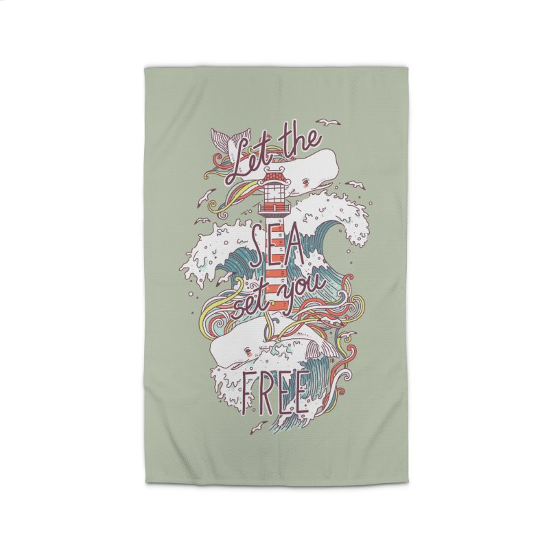 Whales and Waves Home Rug by Freeminds's Artist Shop