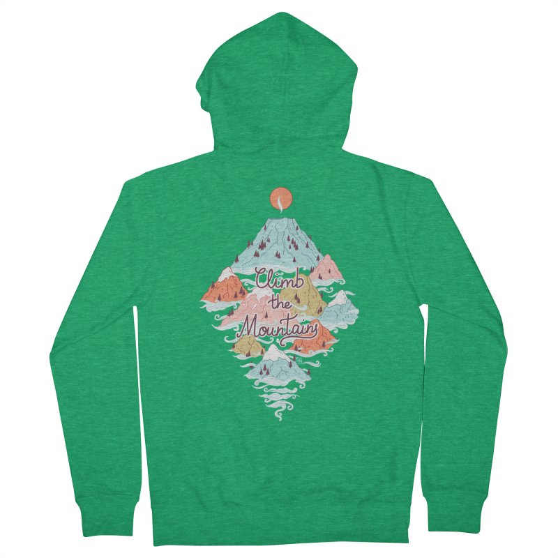 Misty Mountains Men's Zip-Up Hoody by Freeminds