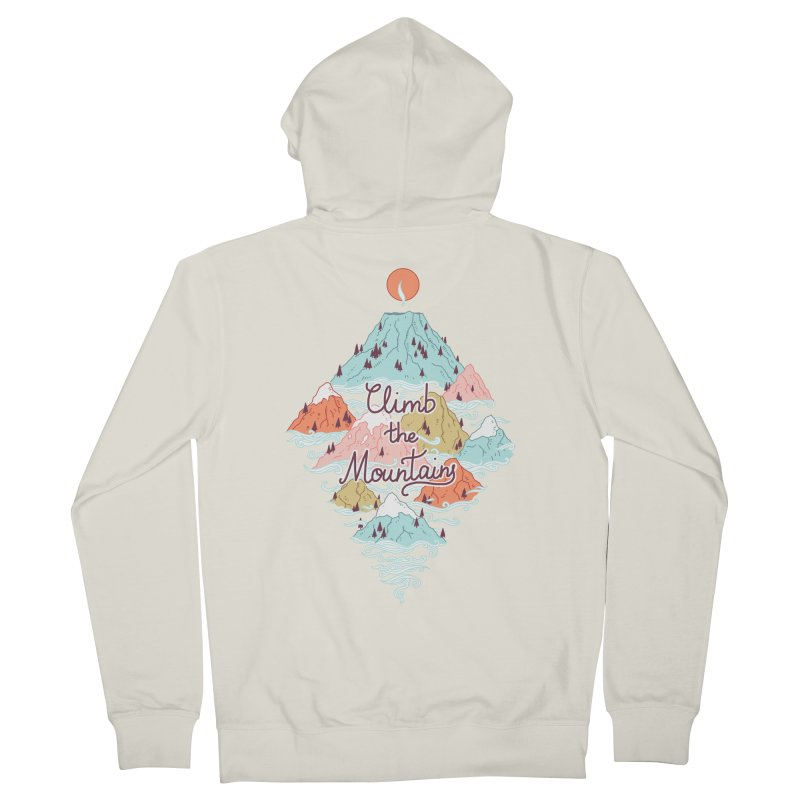 Misty Mountains Men's Zip-Up Hoody by Freeminds's Artist Shop
