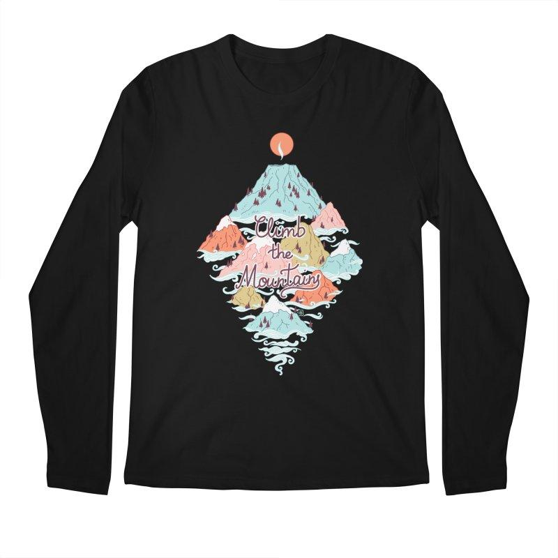 Misty Mountains Men's Longsleeve T-Shirt by Freeminds's Artist Shop