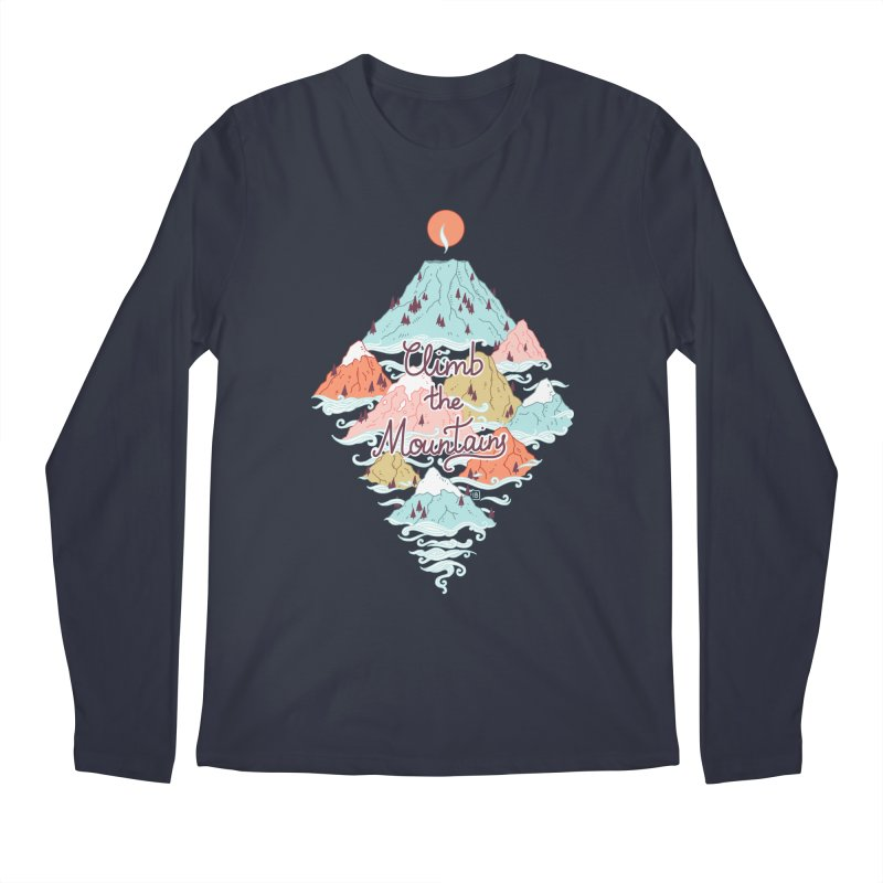 Misty Mountains Men's Longsleeve T-Shirt by Freeminds