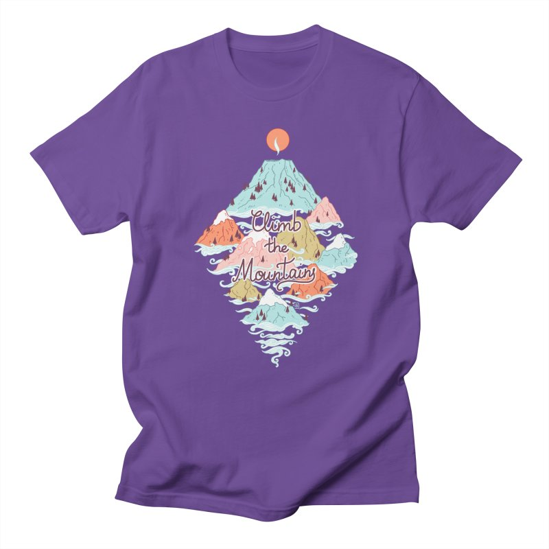 Misty Mountains Men's T-shirt by Freeminds's Artist Shop