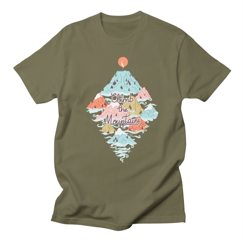 Misty Mountains Men's T-shirt by Freeminds