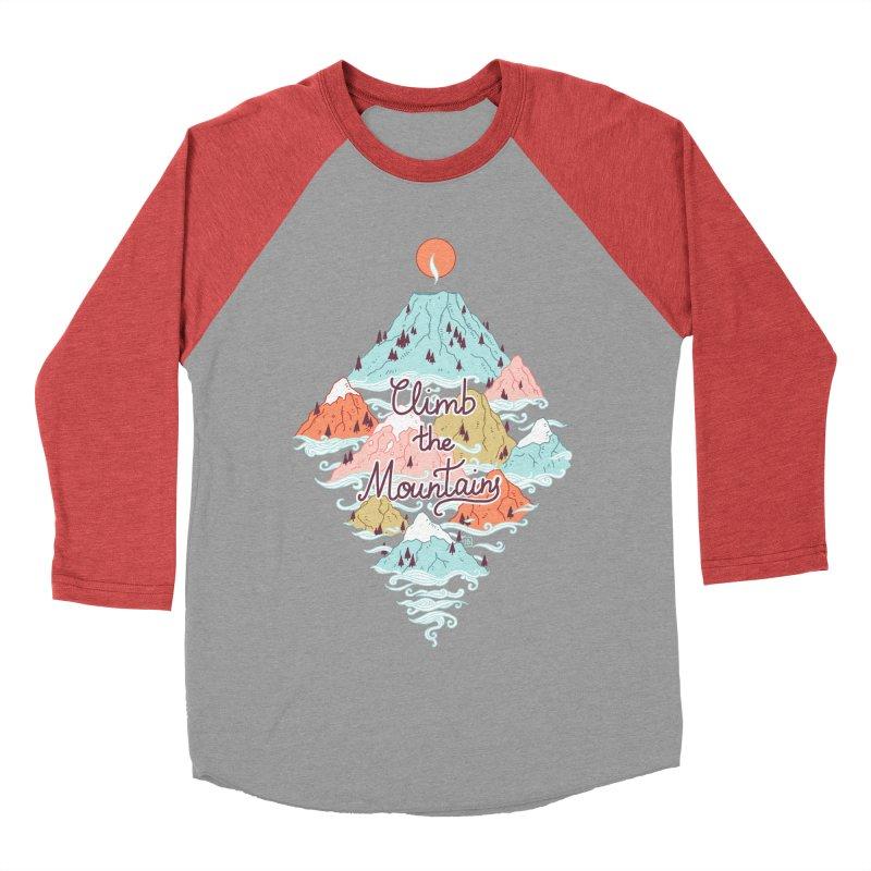 Misty Mountains Women's Baseball Triblend T-Shirt by Freeminds