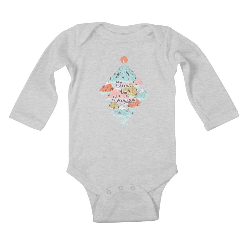 Misty Mountains Kids Baby Longsleeve Bodysuit by Freeminds