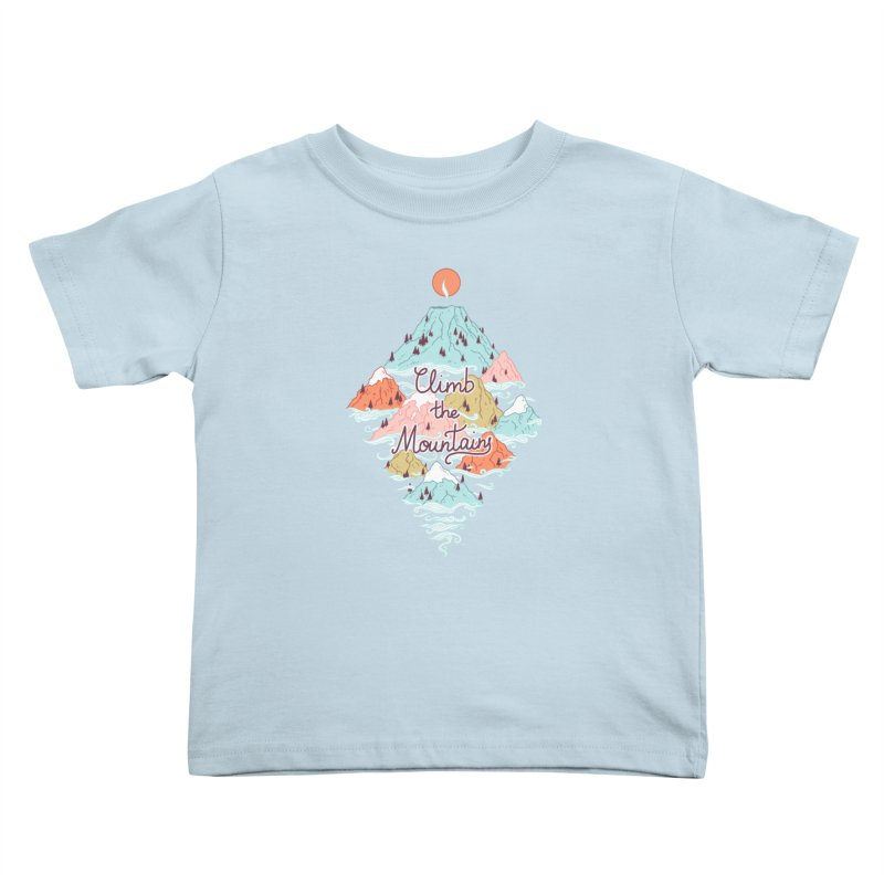 Misty Mountains Kids Toddler T-Shirt by Freeminds
