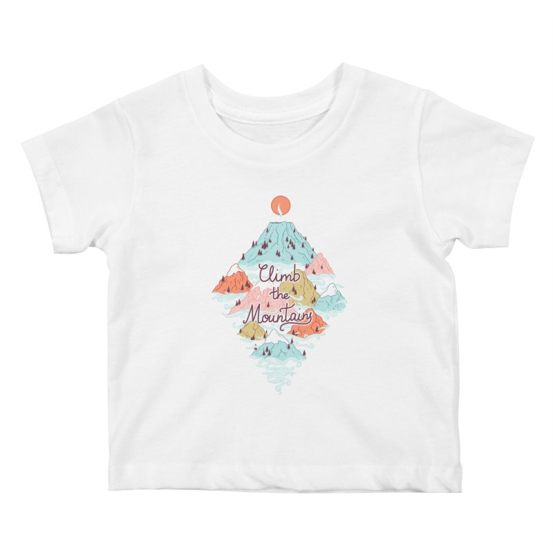 Misty Mountains Kids Baby T-Shirt by Freeminds