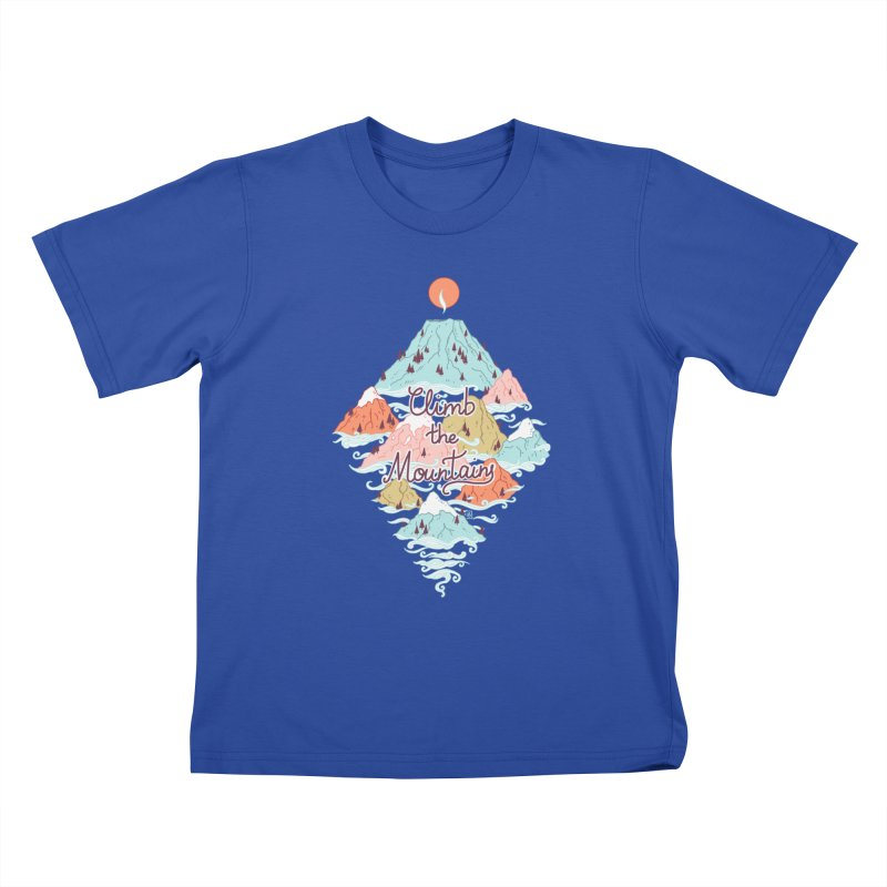 Misty Mountains Kids T-Shirt by Freeminds