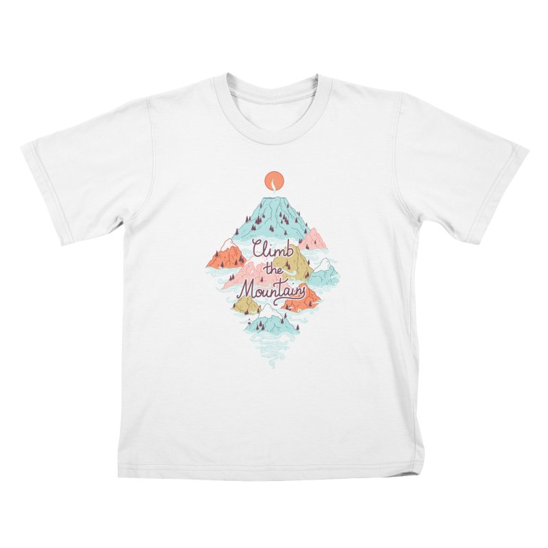 Misty Mountains Kids T-shirt by Freeminds's Artist Shop