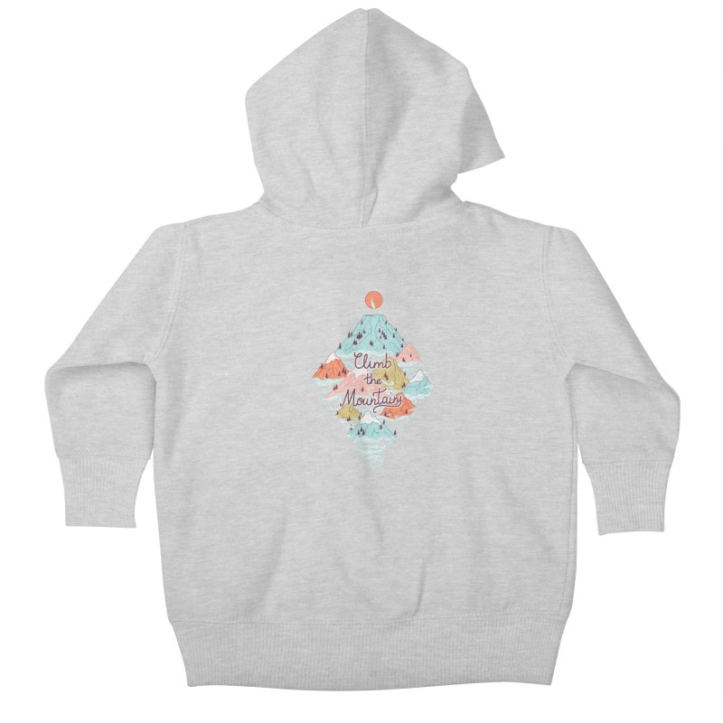 Misty Mountains Kids Baby Zip-Up Hoody by Freeminds