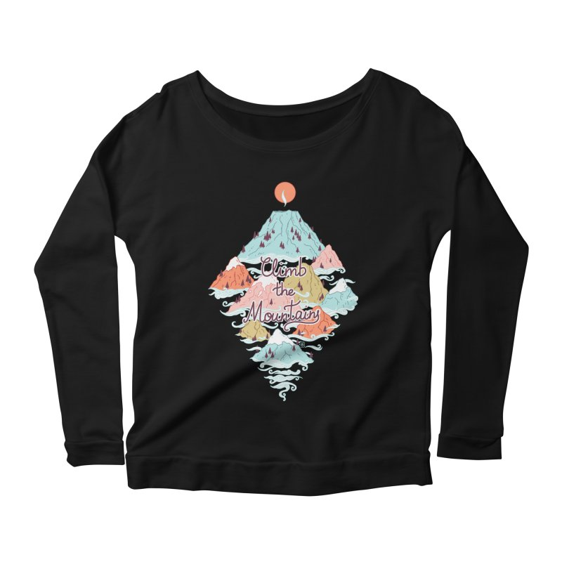 Misty Mountains Women's Longsleeve Scoopneck  by Freeminds