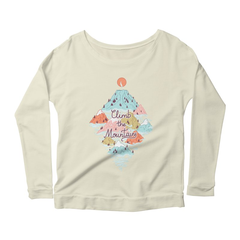 Misty Mountains Women's Longsleeve Scoopneck  by Freeminds's Artist Shop