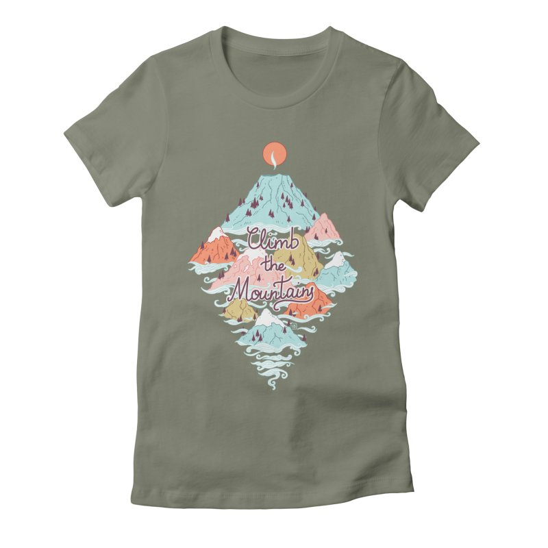 Misty Mountains Women's Fitted T-Shirt by Freeminds