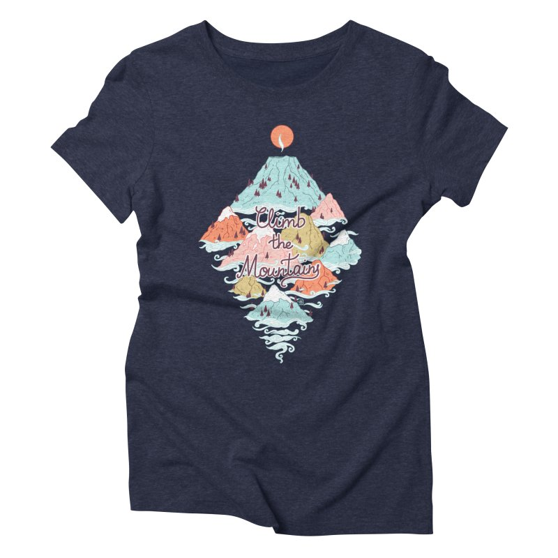 Misty Mountains Women's Triblend T-shirt by Freeminds