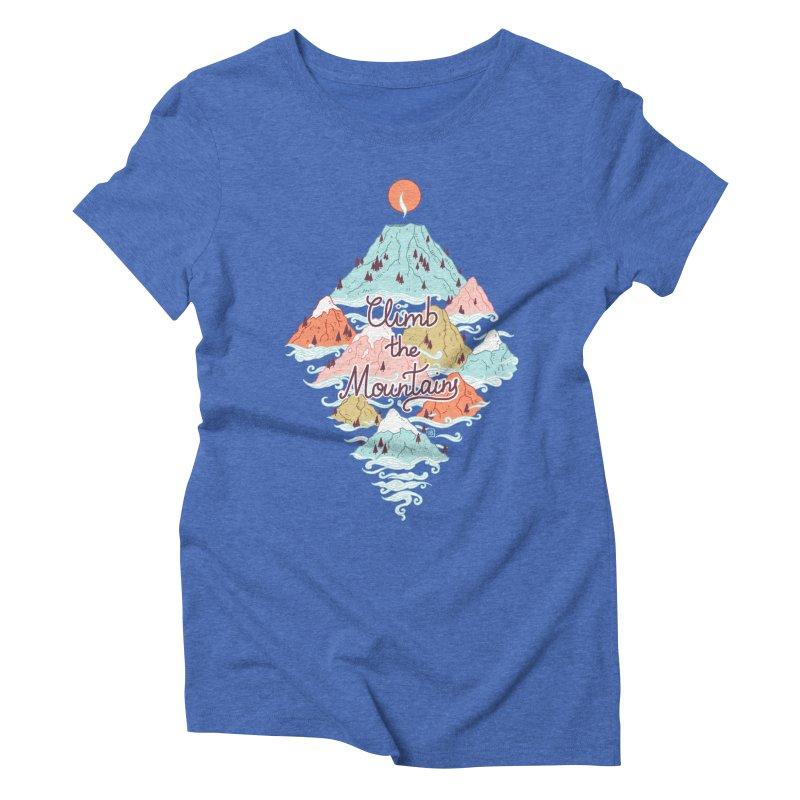 Misty Mountains Women's Triblend T-shirt by Freeminds's Artist Shop