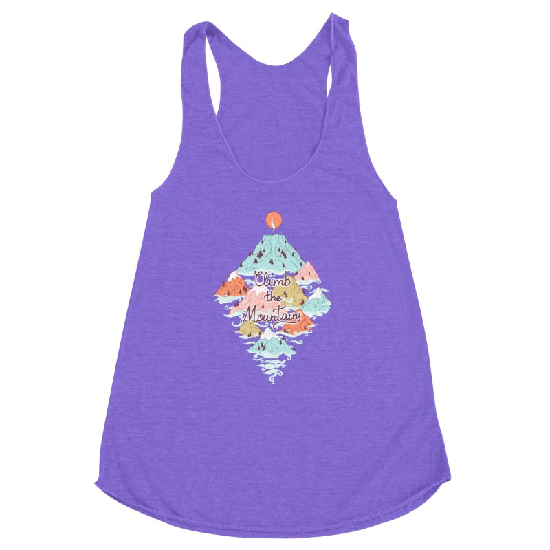 Misty Mountains Women's Racerback Triblend Tank by Freeminds