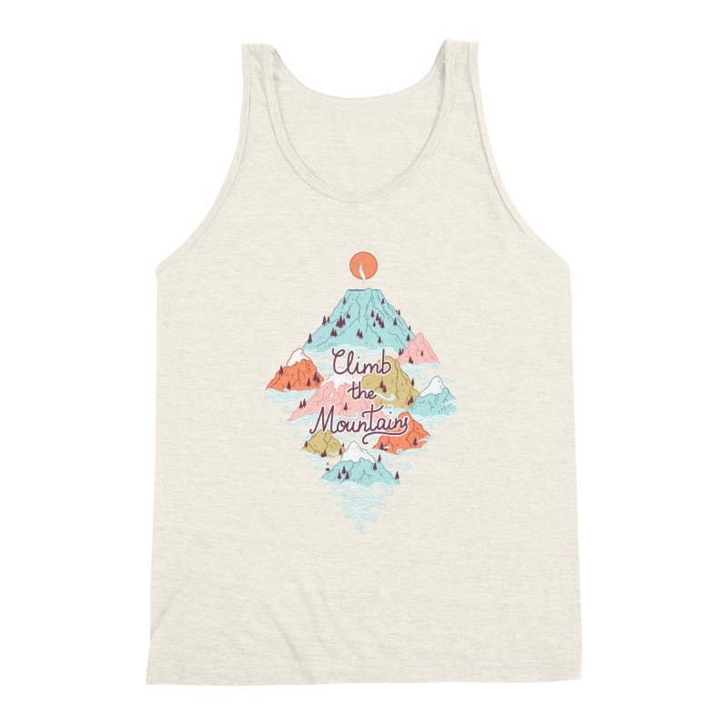 Misty Mountains Men's Triblend Tank by Freeminds