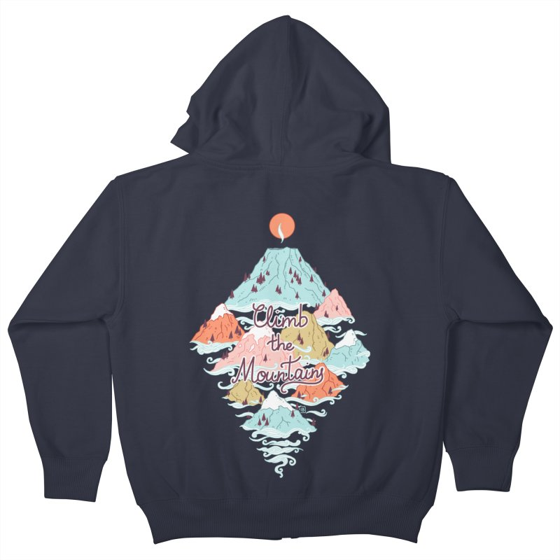 Misty Mountains Kids Zip-Up Hoody by Freeminds