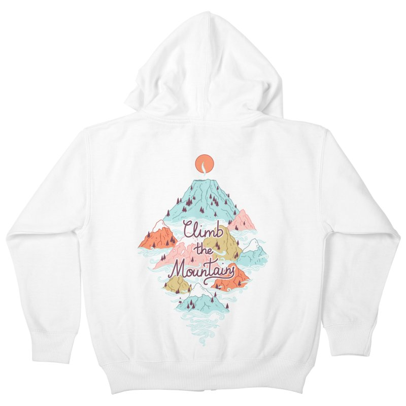 Misty Mountains Kids Zip-Up Hoody by Freeminds's Artist Shop
