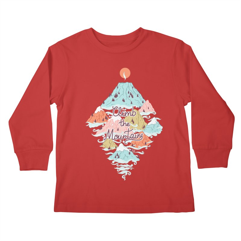 Misty Mountains Kids Longsleeve T-Shirt by Freeminds