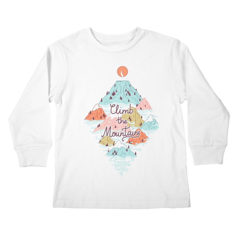 Misty Mountains Kids Longsleeve T-Shirt by Freeminds