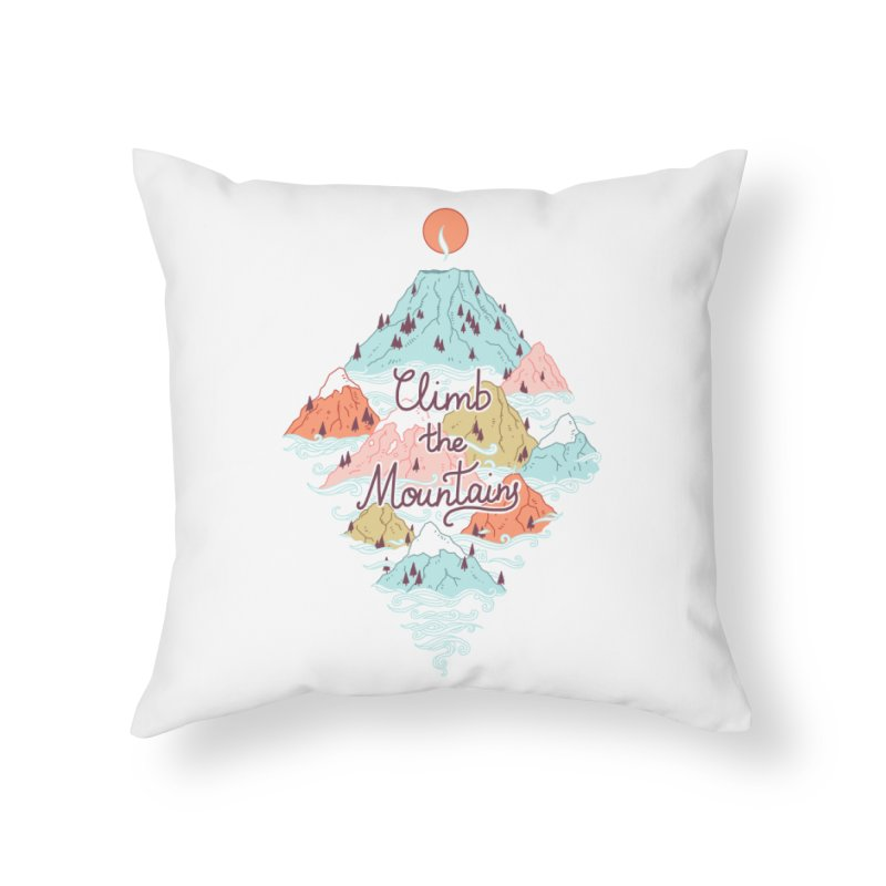 Misty Mountains Home Throw Pillow by Freeminds