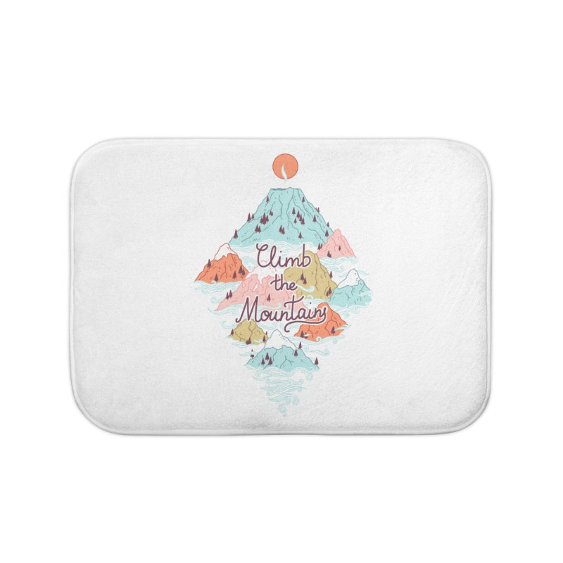 Misty Mountains Home Bath Mat by Freeminds