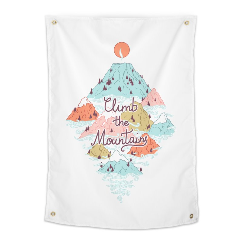 Misty Mountains Home Tapestry by Freeminds