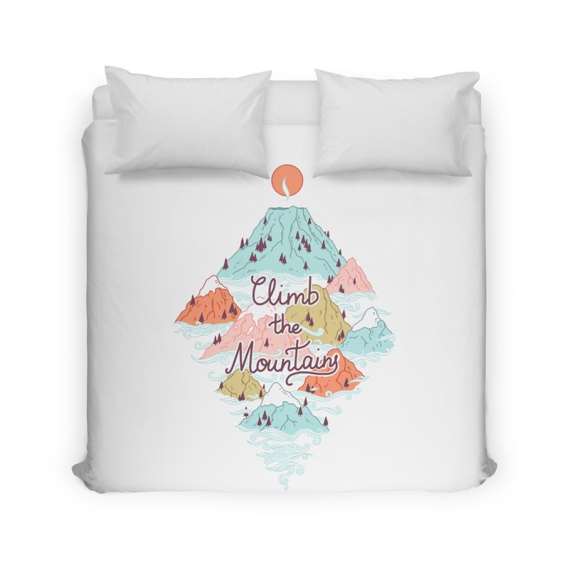 Misty Mountains Home Duvet by Freeminds