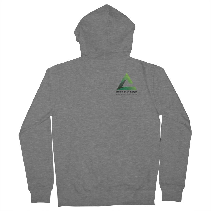 Stacked Logo-Small Men's Zip-Up Hoody by Free the Mind Fitness Shop