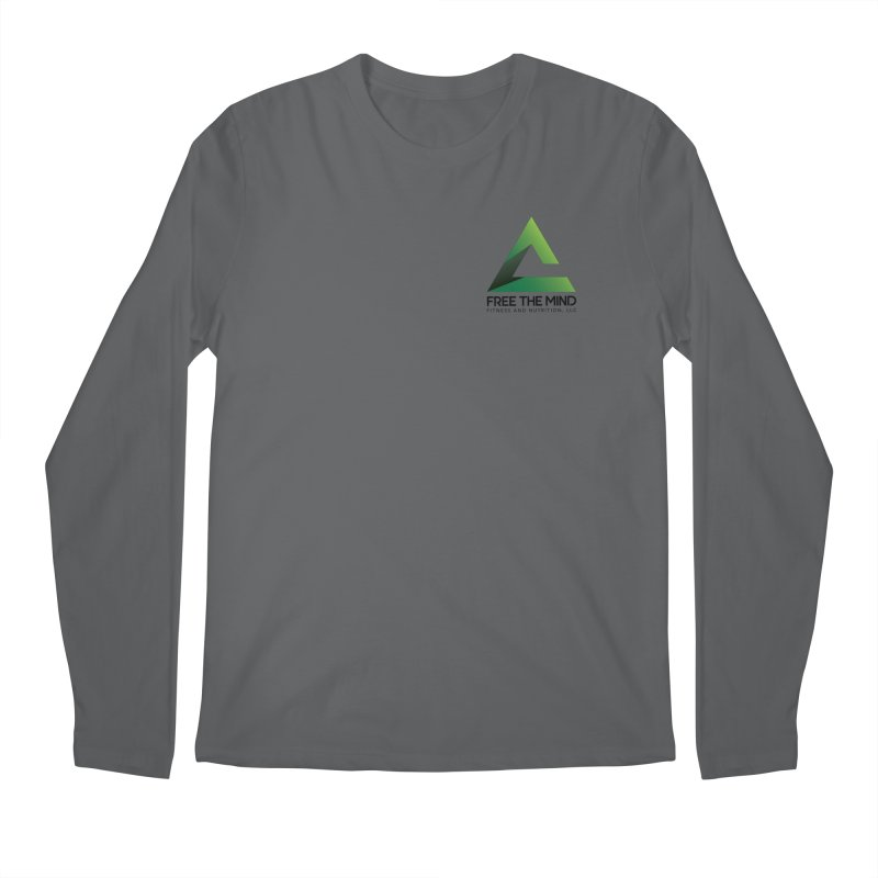 Stacked Logo-Small Men's Longsleeve T-Shirt by Free the Mind Fitness Shop