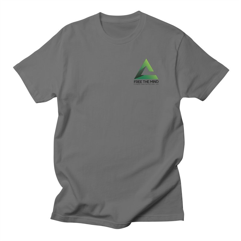 Stacked Logo-Small Men's T-Shirt by Free the Mind Fitness Shop