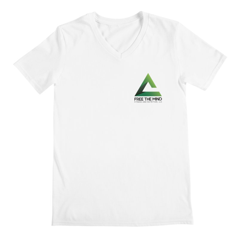 Stacked Logo-Small Men's V-Neck by Free the Mind Fitness Shop