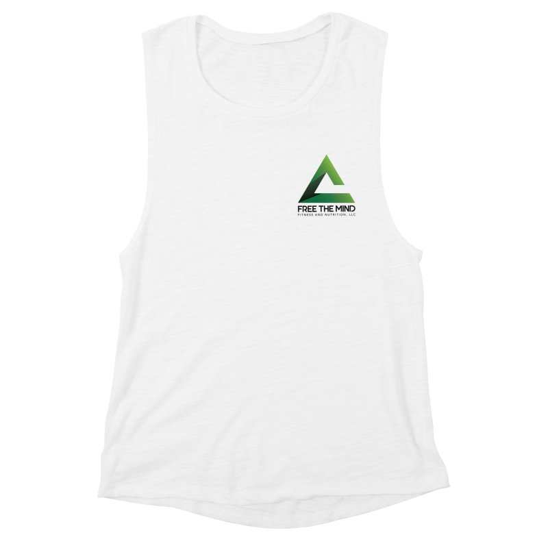 Stacked Logo-Small Women's Tank by Free the Mind Fitness Shop