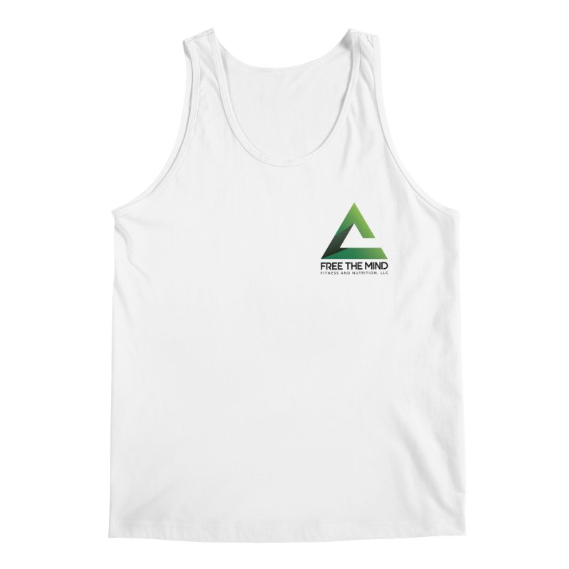 Stacked Logo-Small Men's Tank by Free the Mind Fitness Shop