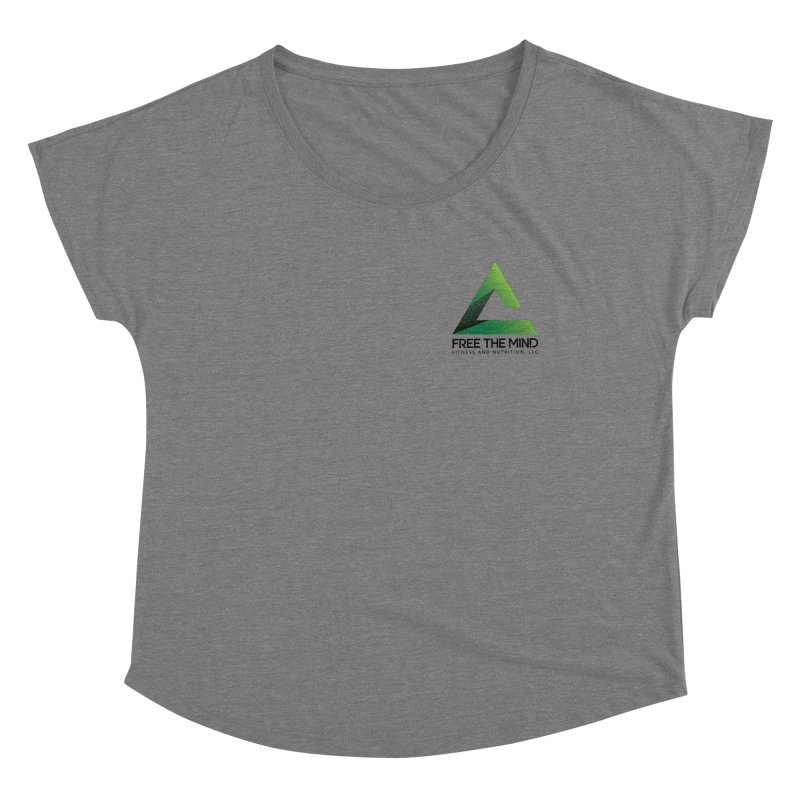 Stacked Logo-Small Women's Scoop Neck by Free the Mind Fitness Shop