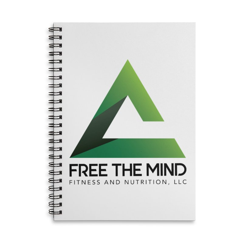 Free the Mind (Stacked) Accessories Notebook by Free the Mind Fitness Shop